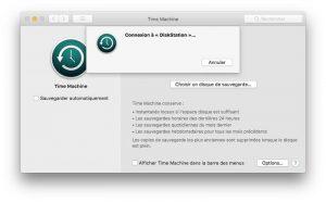 Récupération de données sur Time Machine de Mac