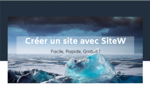 Ce qui fait de SiteW le meilleur créateur de sites web
